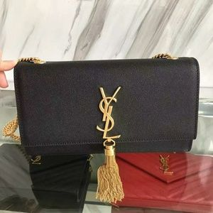 YSL Saint Laurent Tassel Bag Check Description
